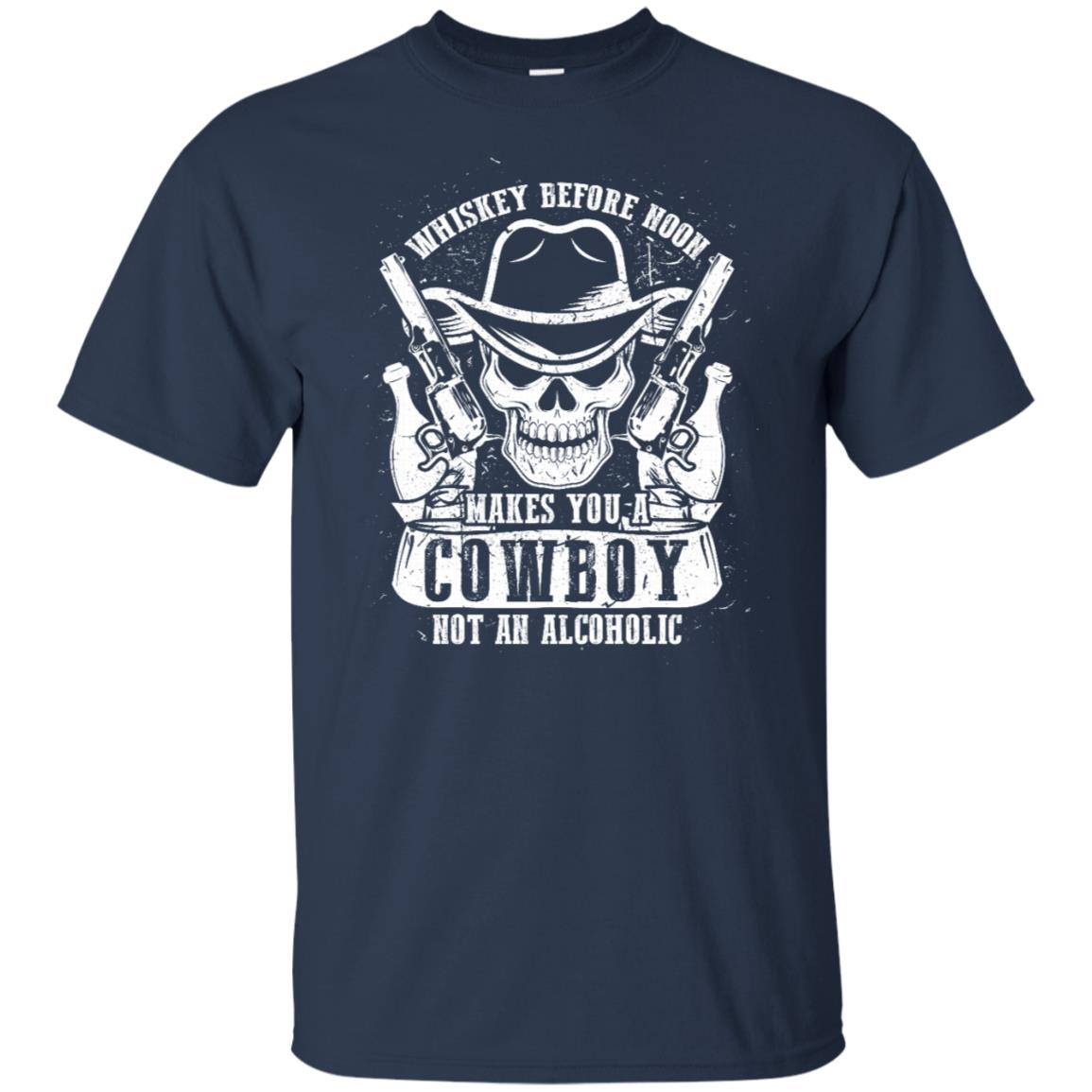 Party Whisky Lover Design Whiskey Before Noon = Cowboy Unisex Short Sleeve