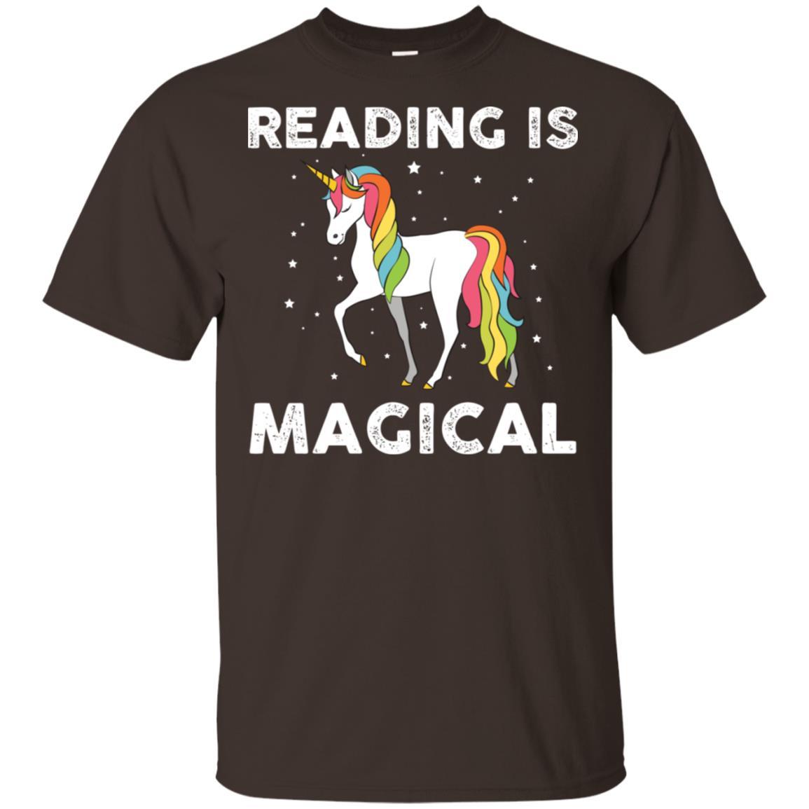 Reading Is Magical Unicorn Teacher Student Librarian Unisex Short Sleeve
