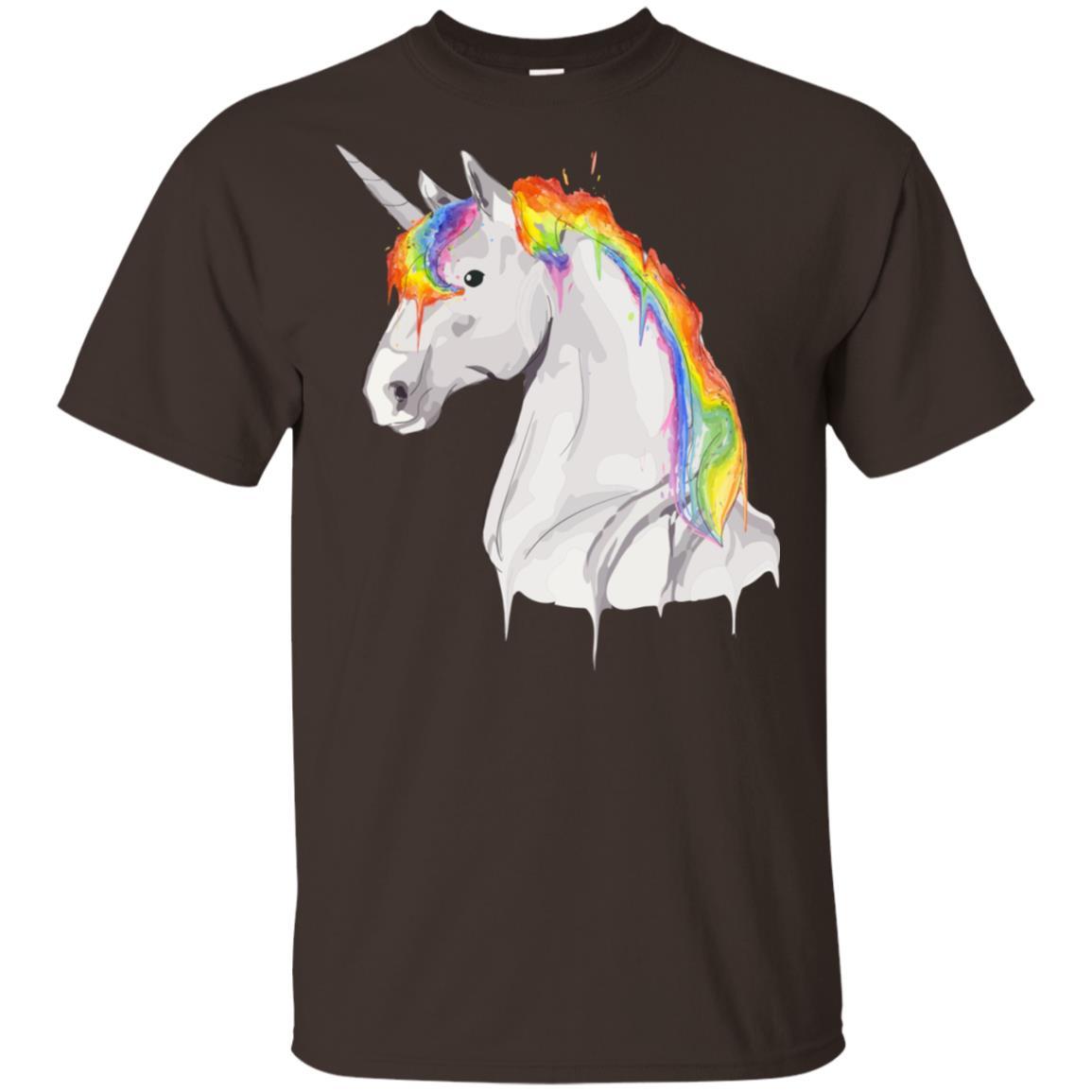 Rainbow Unicorn Watercolor Cool I Heart Unicorn Gift Unisex Short Sleeve