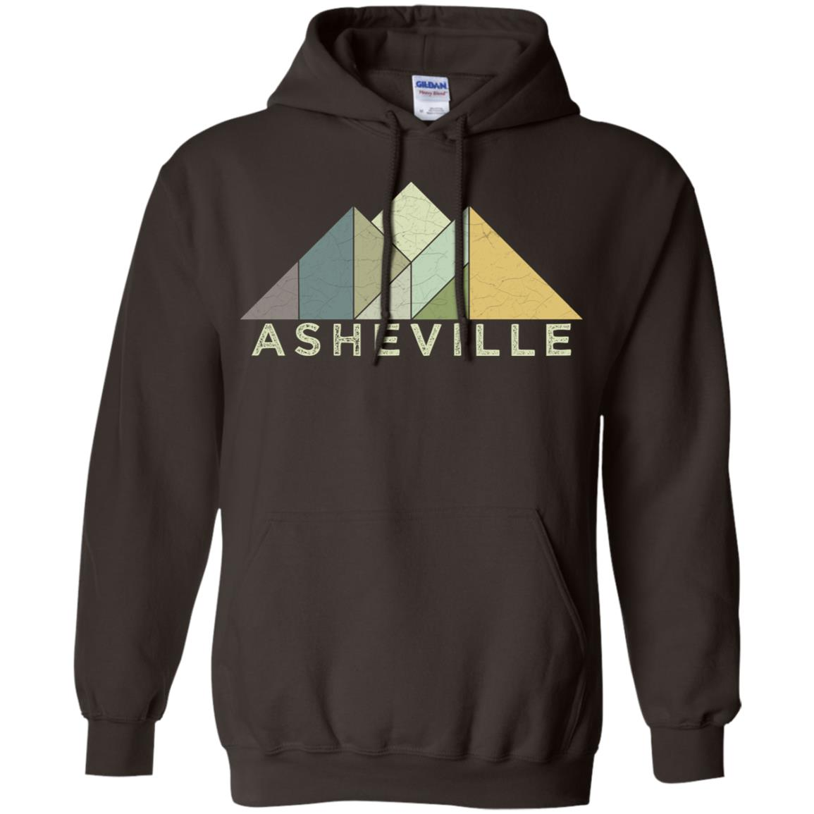 Retro Asheville Nc Vintage Mountains Pullover Hoodie