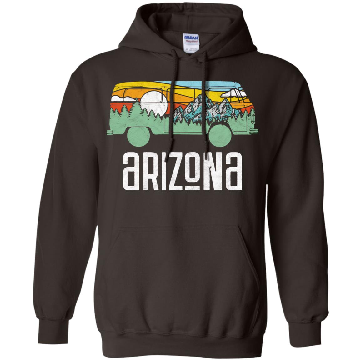 Retro Arizona Outdoor Hippie Van Nature Design T Pullover Hoodie