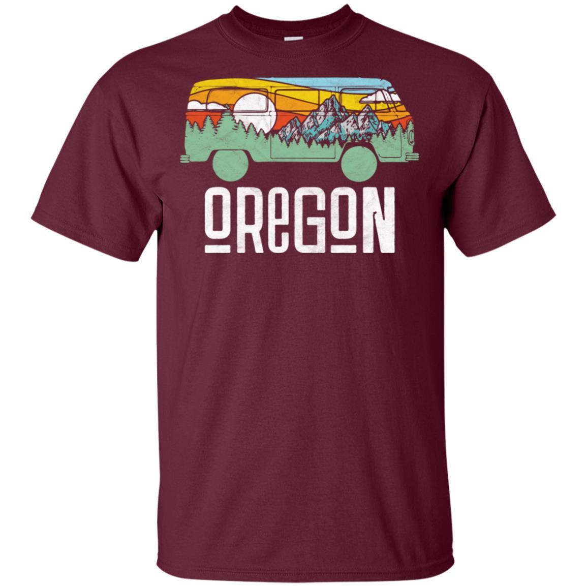 Retro Oregon Outdoor Hippie Van Nature Unisex Short Sleeve