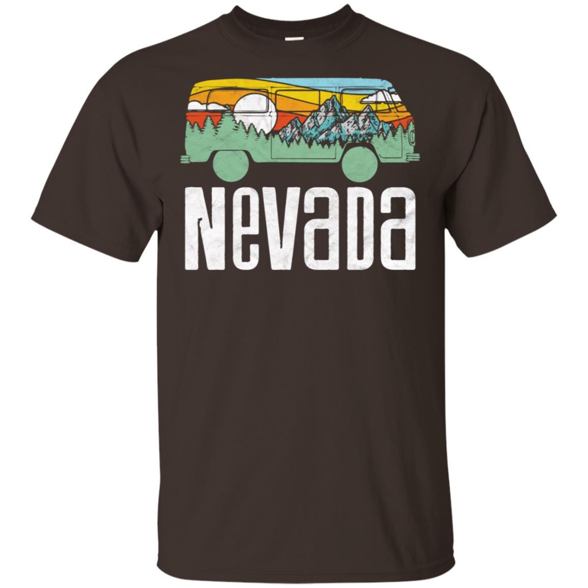 Retro Nevada Outdoor Hippie Van Nature Tee Unisex Short Sleeve