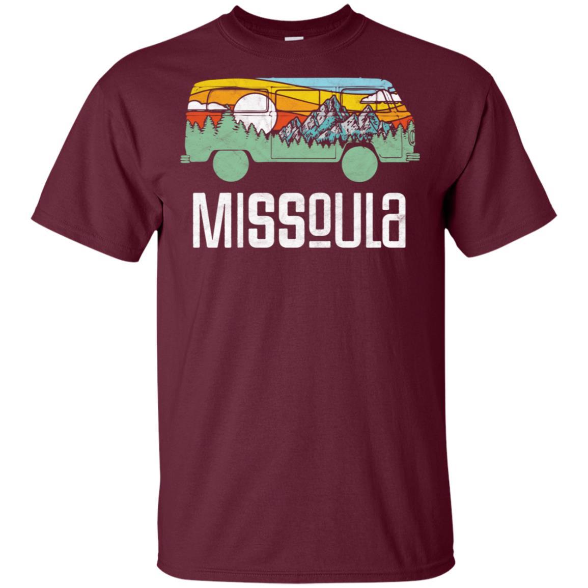 Retro Missoula Montana Outdoor Hippie Van Nature Unisex Short Sleeve