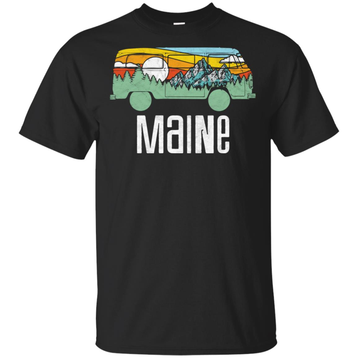 Retro Maine Outdoor Hippie Van Nature Tee Unisex Short Sleeve