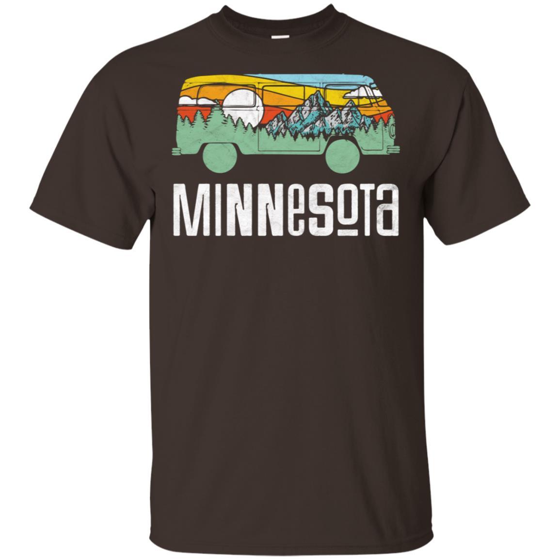 Retro Minnesota Outdoor Hippie Van Nature Tee Unisex Short Sleeve
