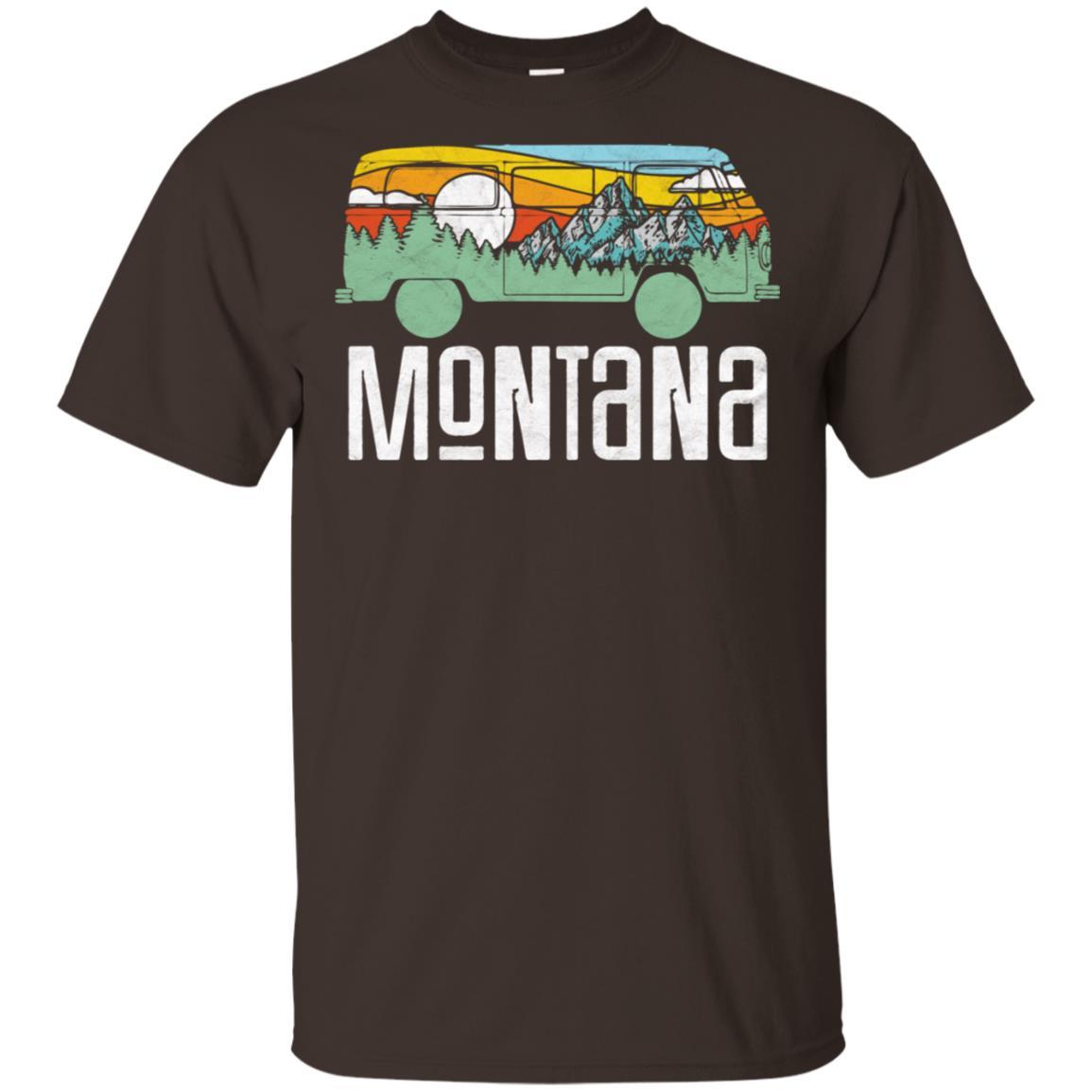 Retro Montana Outdoor Hippie Van Nature Unisex Short Sleeve