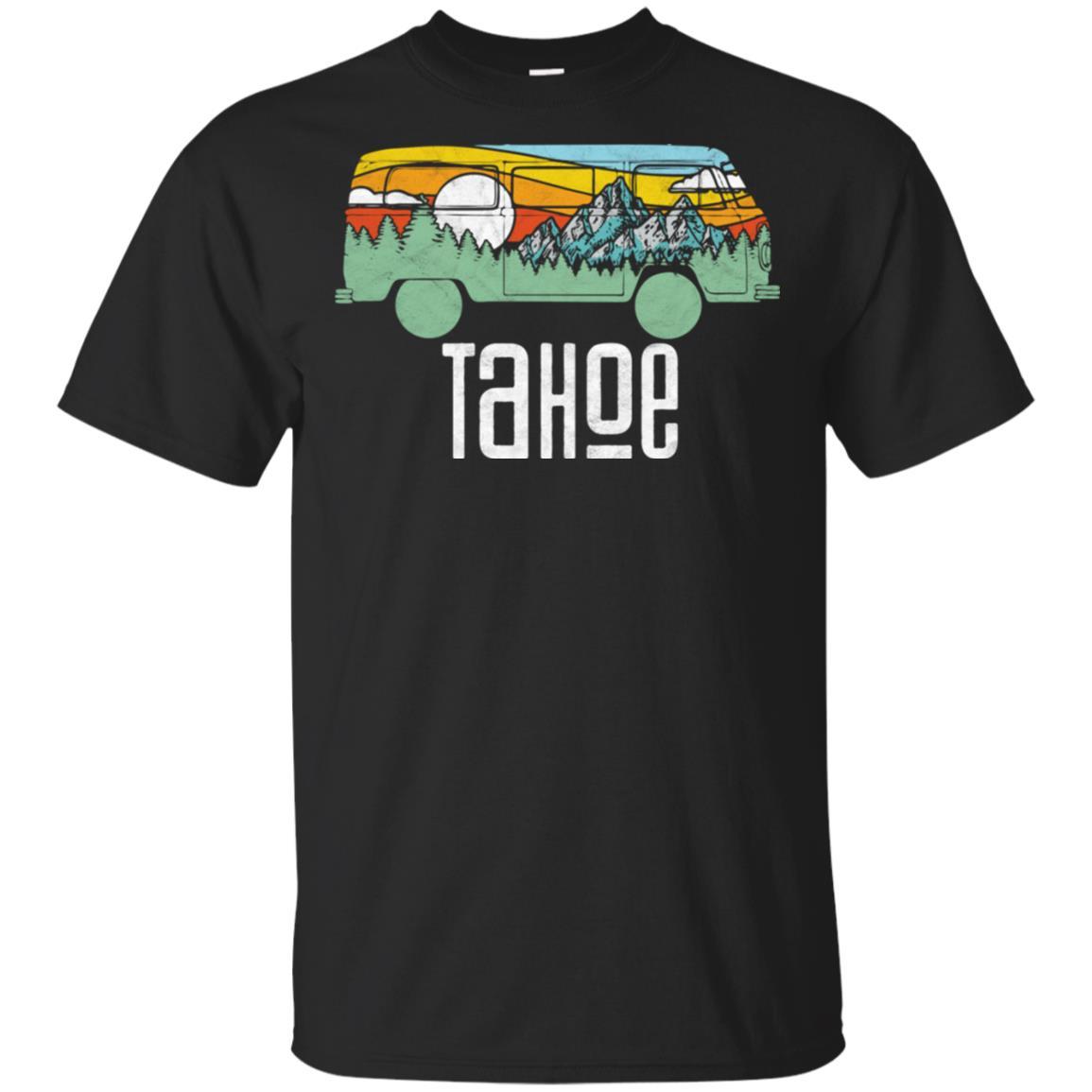 Retro Lake Tahoe Outdoor Hippie Van Nature Unisex Short Sleeve