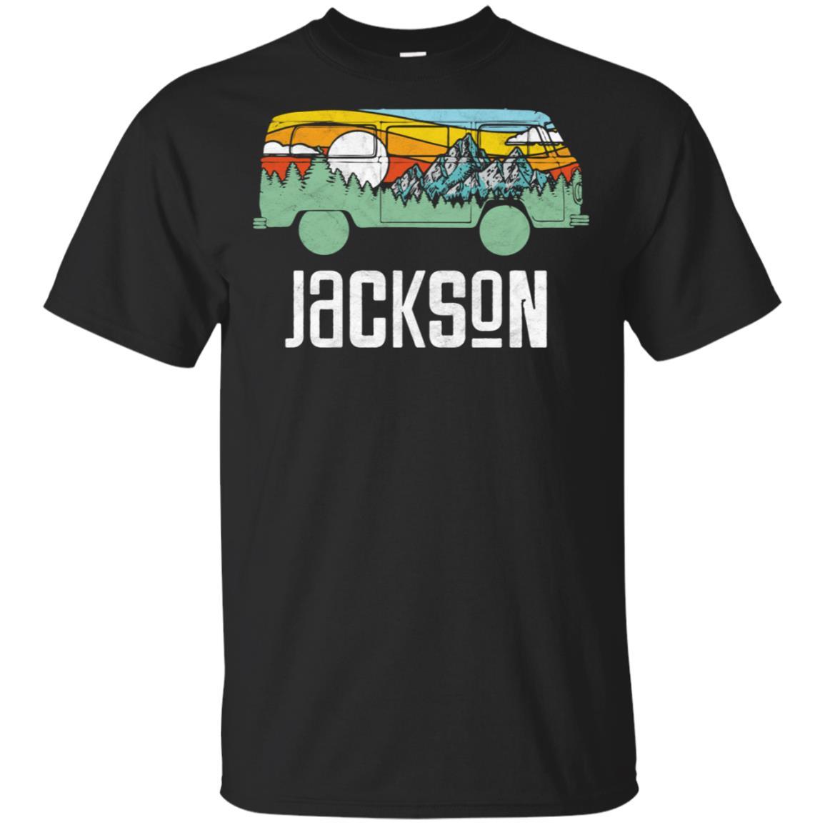 Retro Jackson Hole Outdoor Hippie Van Nature Unisex Short Sleeve