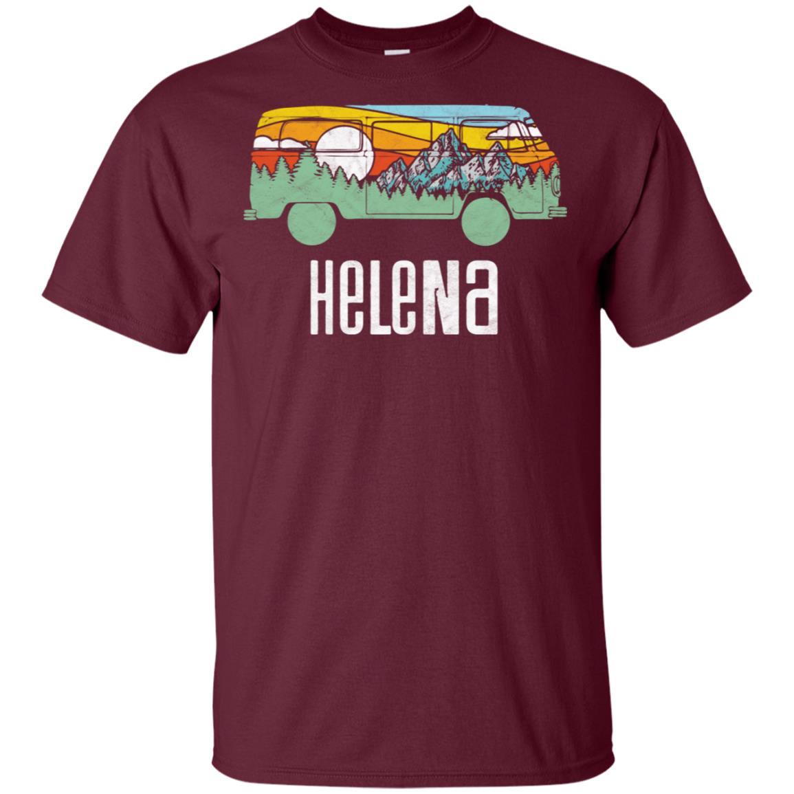 Retro Helena Montana Outdoor Hippie Van Nature T Unisex Short Sleeve