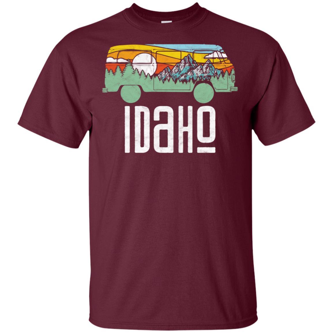 Retro Idaho Outdoor Hippie Van Nature Tee Unisex Short Sleeve