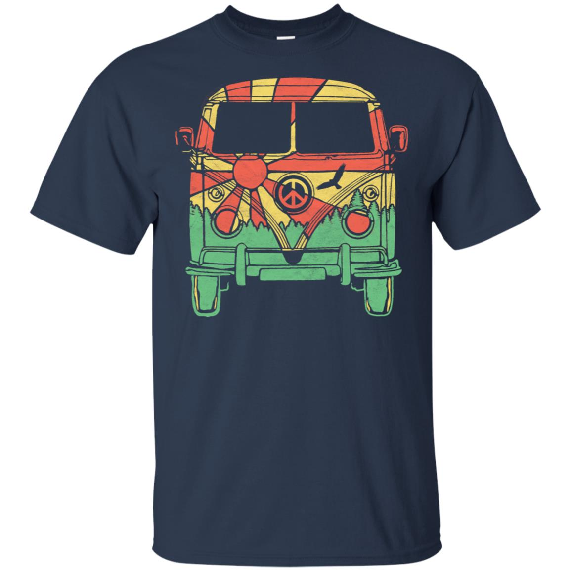 Retro Hippie Van Camper Vintage Nature Tee Unisex Short Sleeve