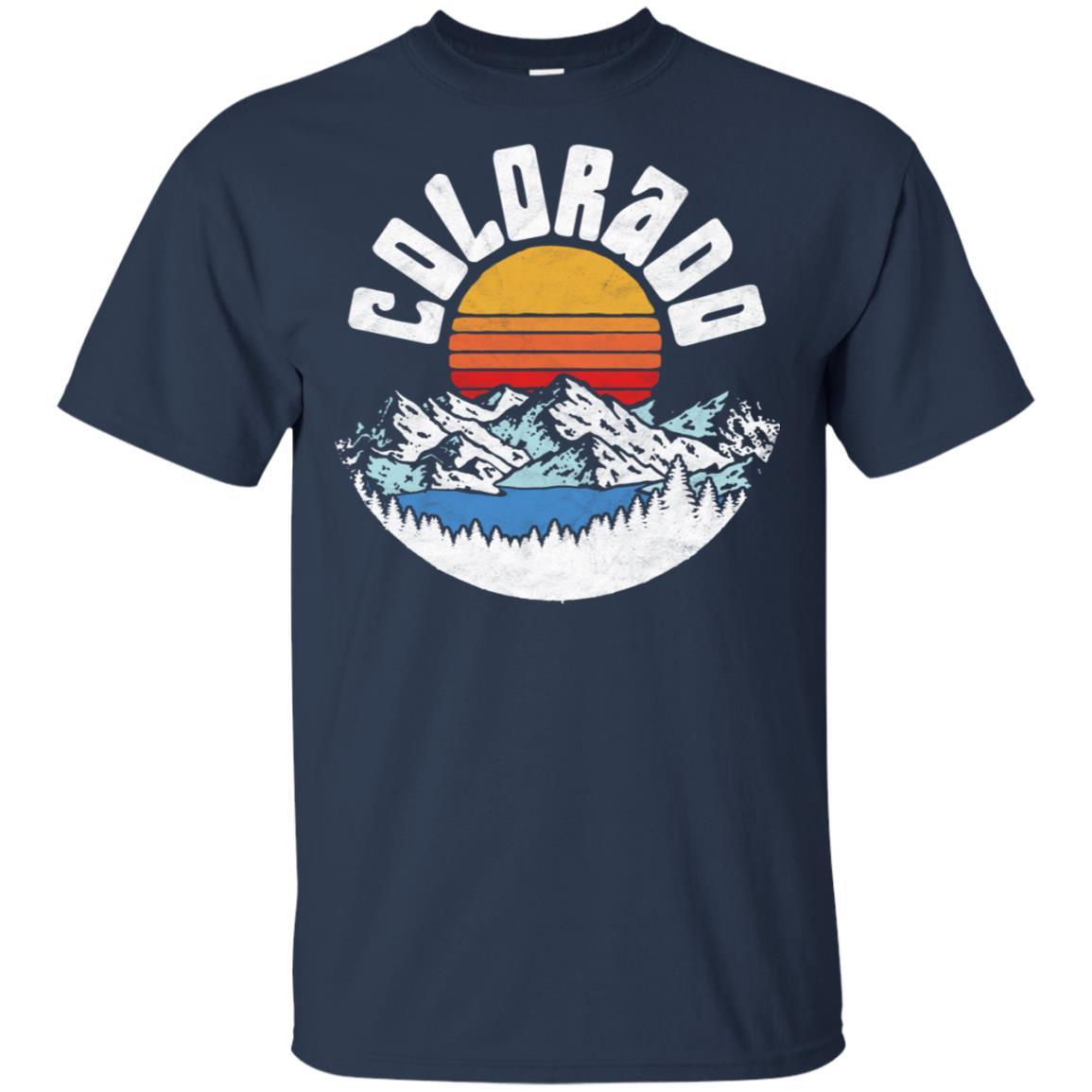 Retro Colorado Outdoors Lake & Mountains Graphic Unisex Short Sleeve