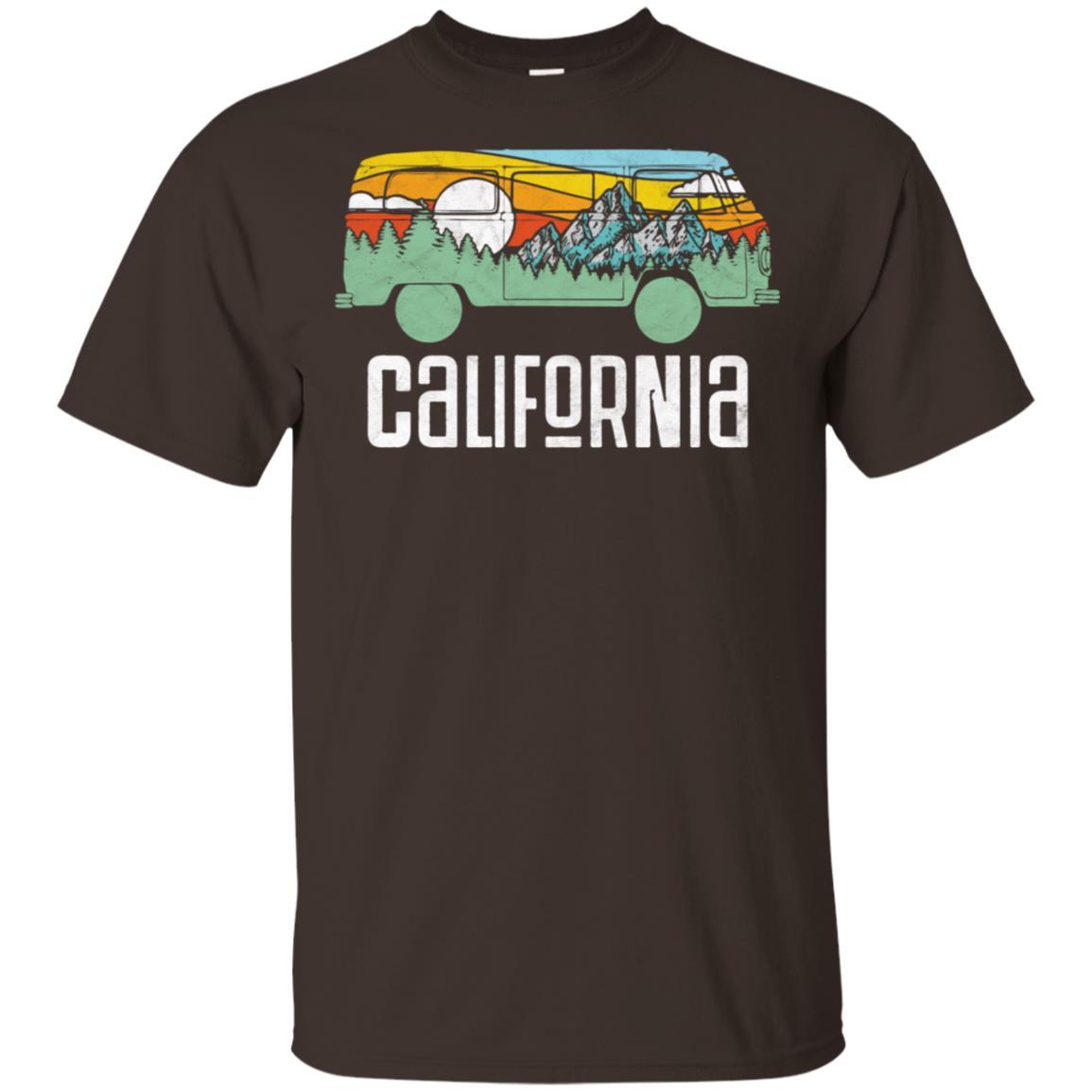 Retro California Outdoor Hippie Van Nature Tee Unisex Short Sleeve