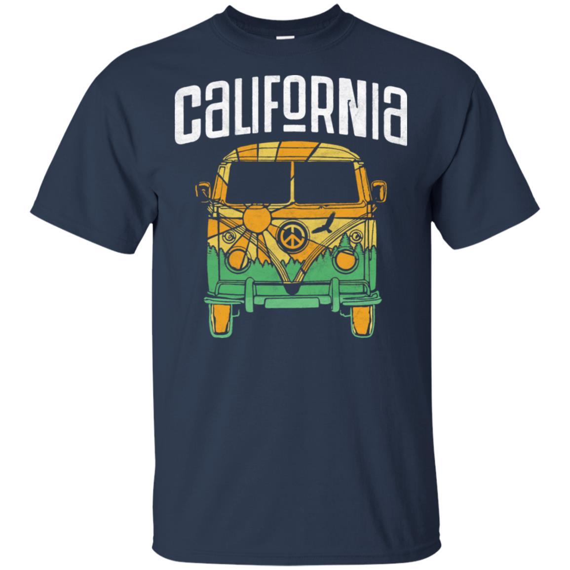 Retro California Hippie Van Camper Nature Tee Unisex Short Sleeve