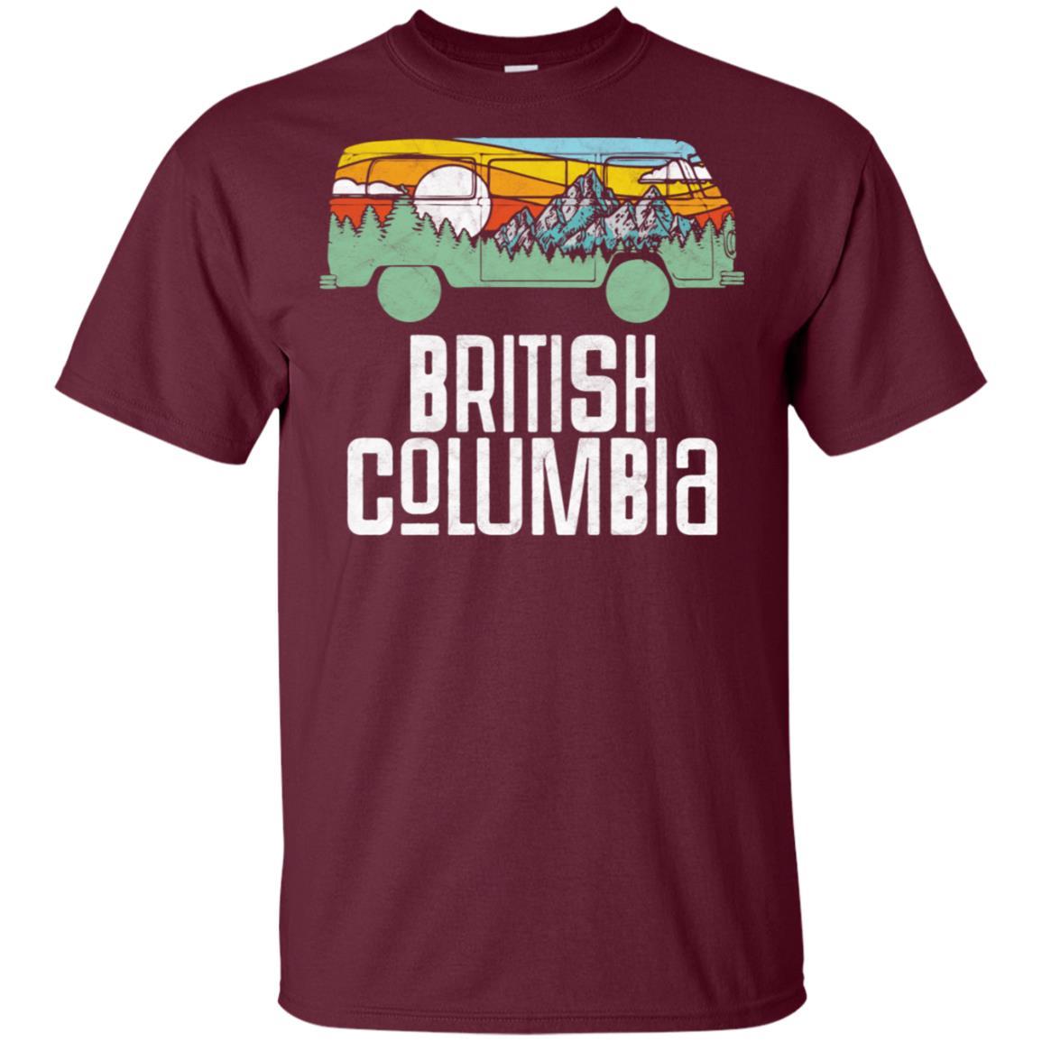 Retro British Columbia Outdoor Hippie Van Nature Unisex Short Sleeve