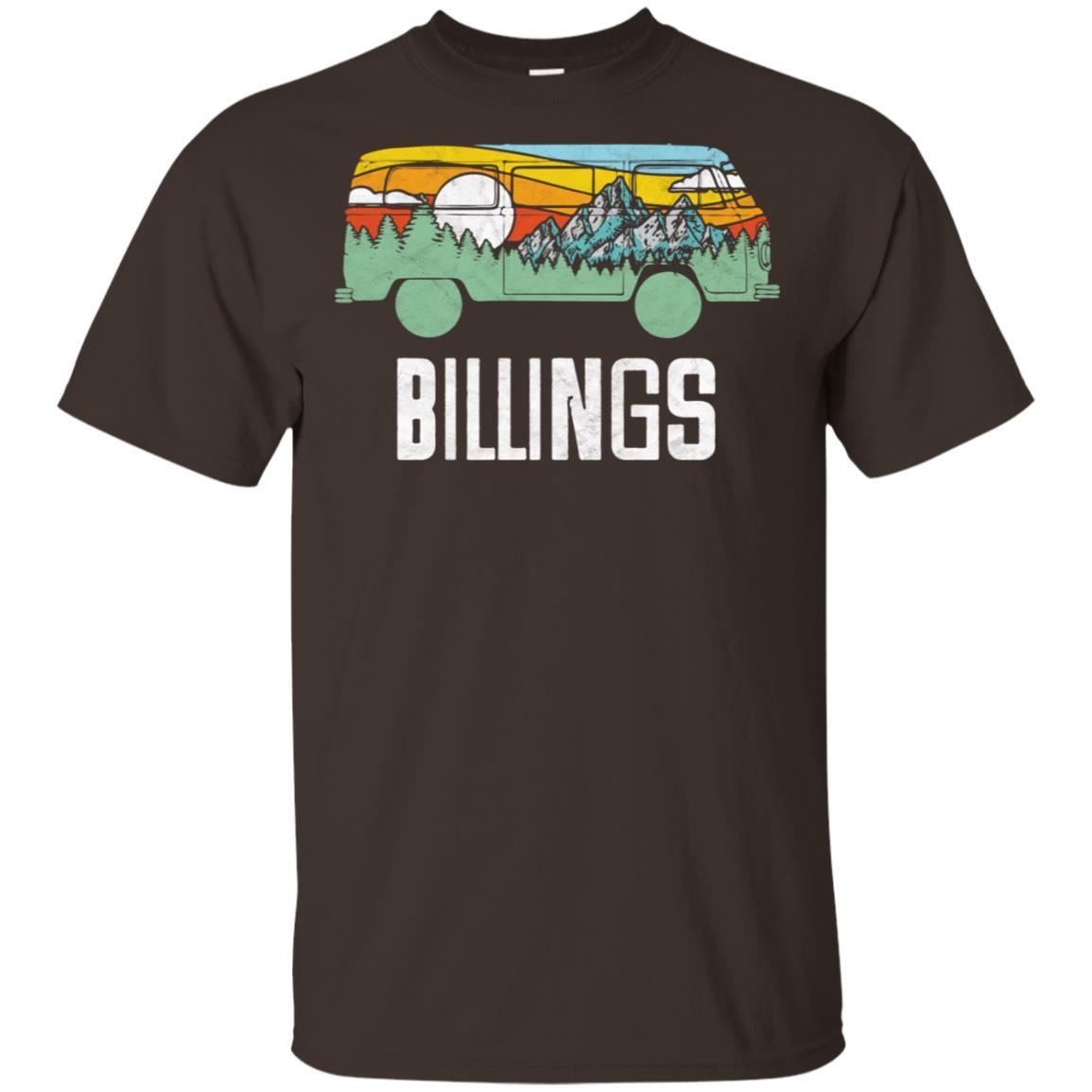 Retro Billings Montana Outdoor Hippie Van Unisex Short Sleeve