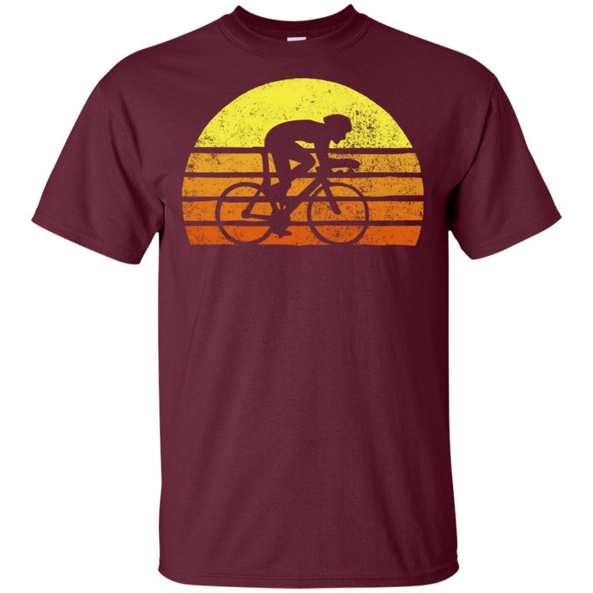 Retro Bicycle Rider Racing Vintage Sunset Unisex Short Sleeve