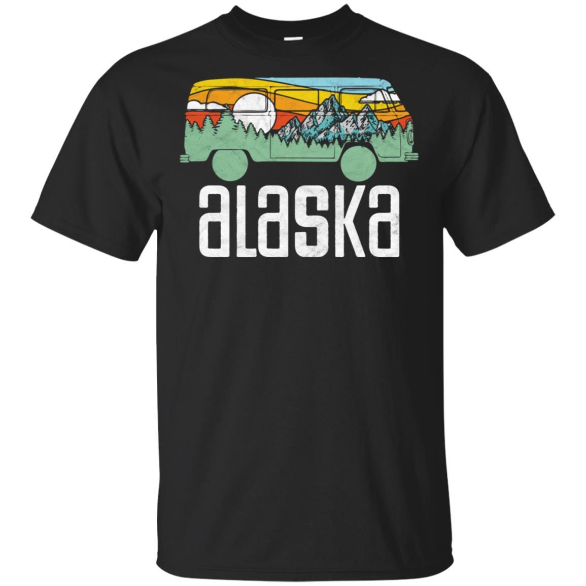 Retro Alaska Outdoor Hippie Van Nature Design T Unisex Short Sleeve