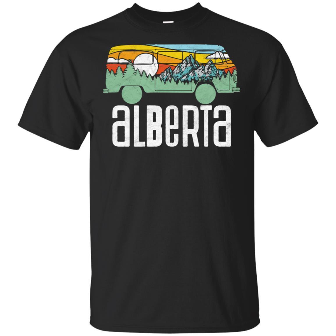 Retro Alberta Canada Outdoor Hippie Van Tee Unisex Short Sleeve