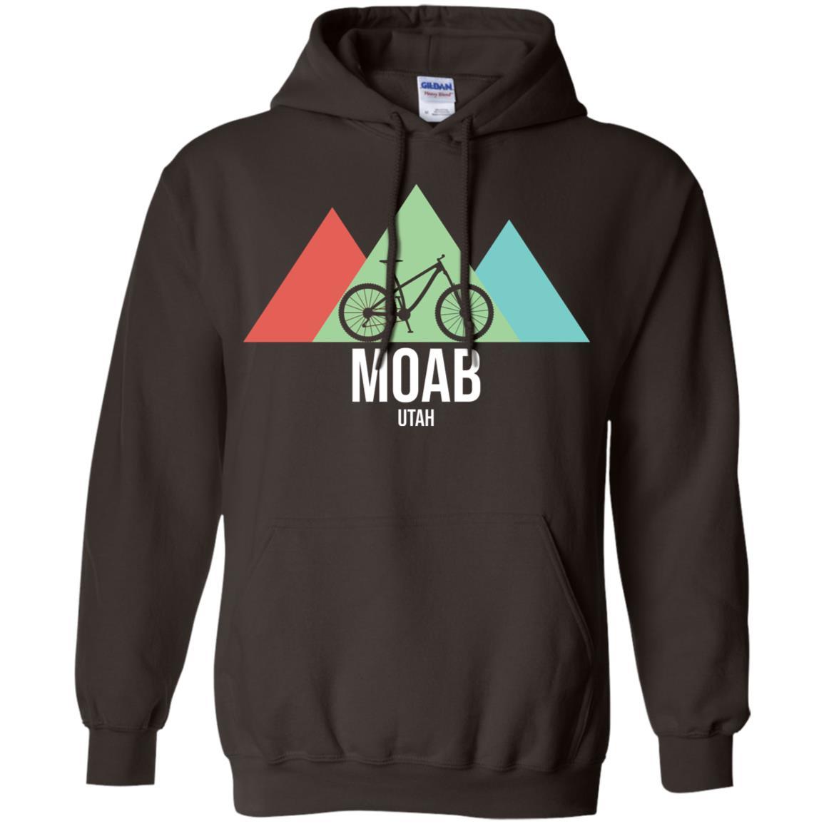 Retro Vintage Bike Moab Utah Mountain Biking Pullover Hoodie