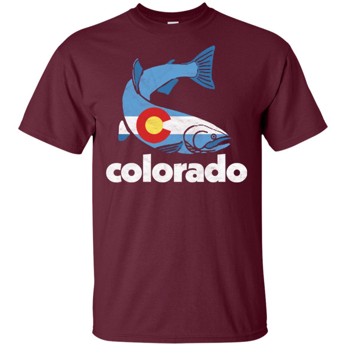 Retro Vintage Colorado Flag Fishing Unisex Short Sleeve