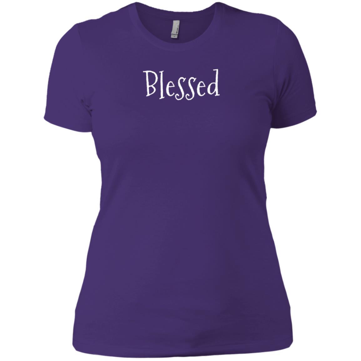 Blessed Spiritual Spirit Filled Christian Joy Long Women Short Sleeve