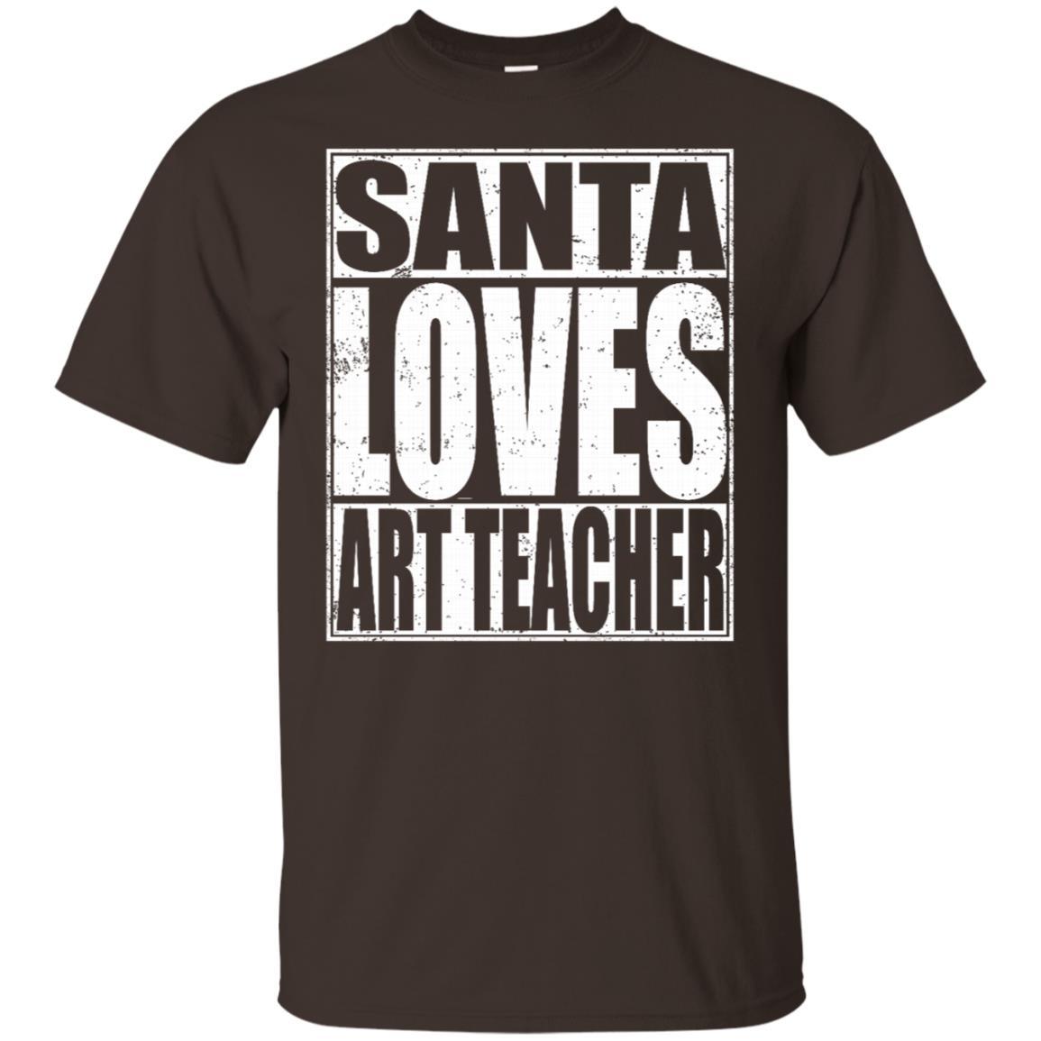 Santa Loves Art Teacher Unisex Short Sleeve