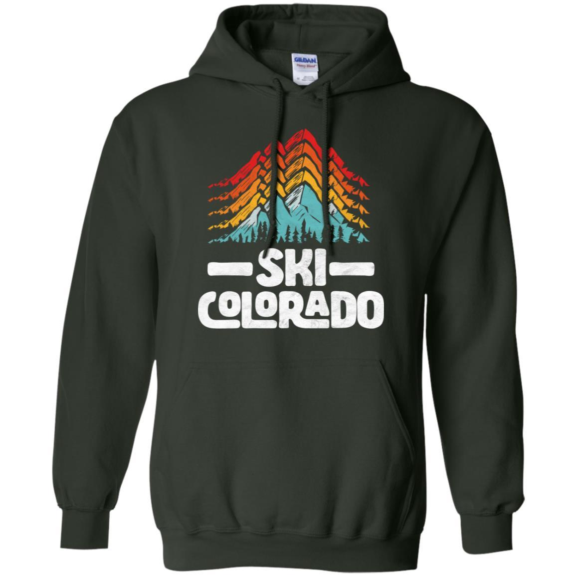 Ski Colorado Vintage 80s Mountains Pullover Hoodie