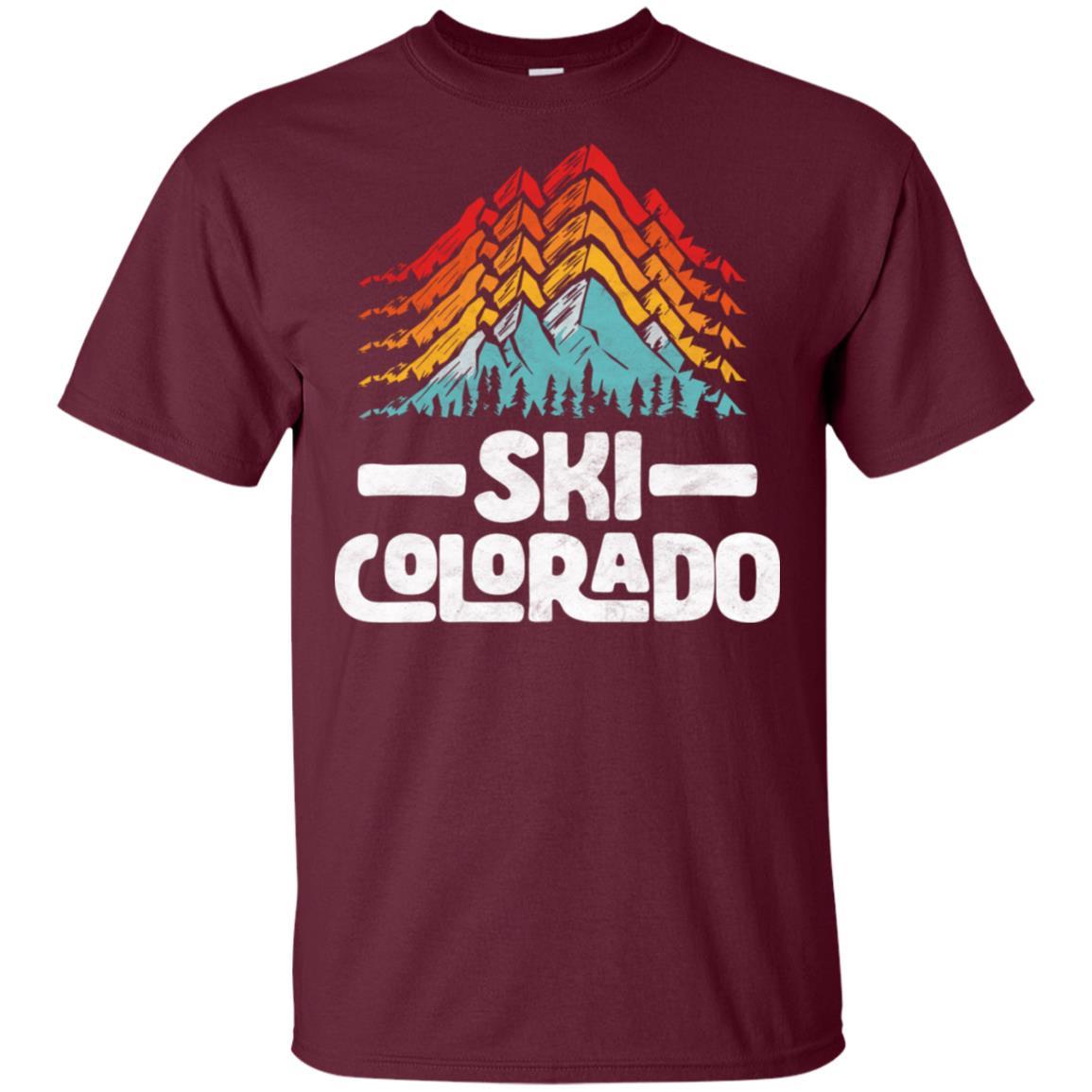 Ski Colorado Vintage 80s Mountains Unisex Short Sleeve