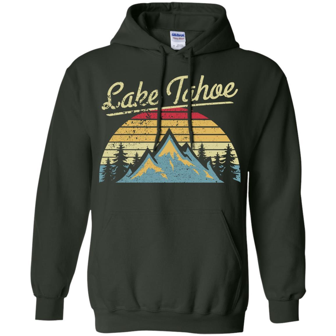 Vintage Retro Lake Tahoe National Forest Pullover Hoodie