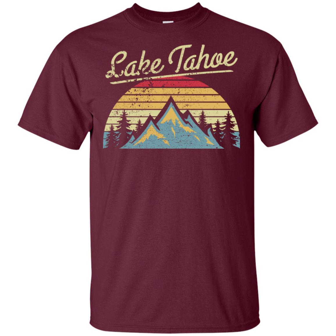 Vintage Retro Lake Tahoe National Forest Unisex Short Sleeve