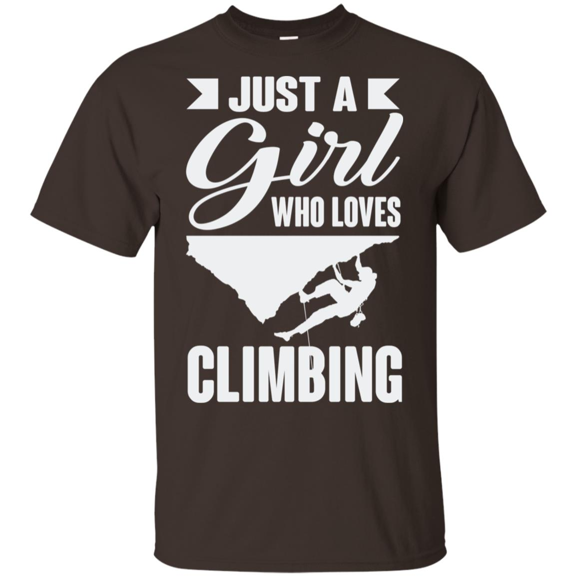 Just A Girl Who Loves Climbing Rock Climbing Unisex Short Sleeve