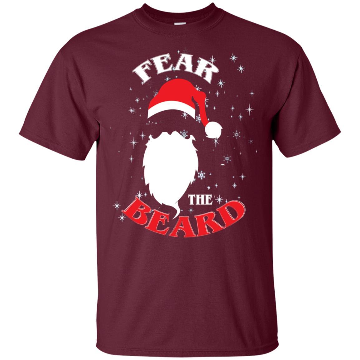 Fear Beard Christmas Bearded Santa Claus Unisex Short Sleeve