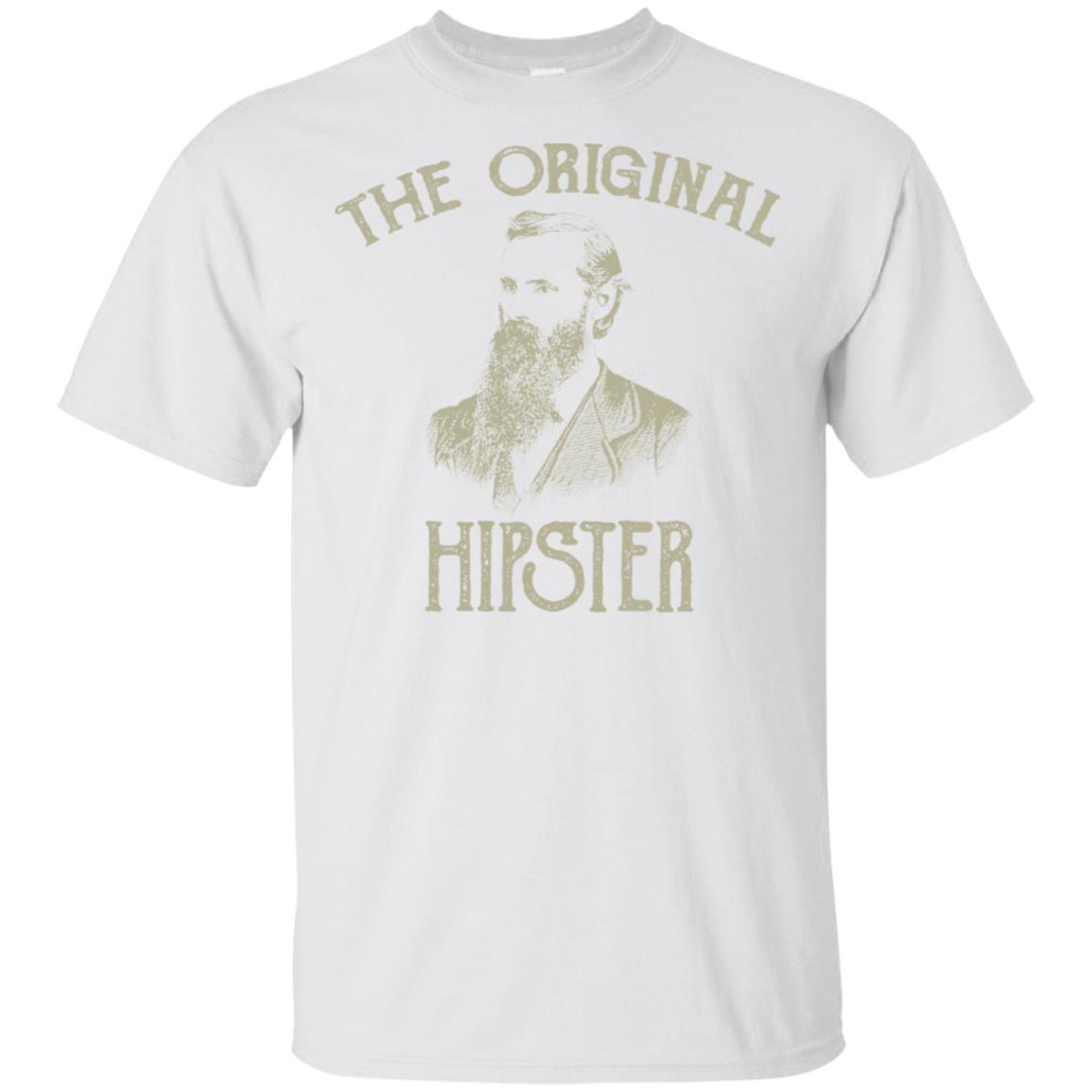 Hipster Retro Vintage Distressed Beard Design Unisex Short Sleeve