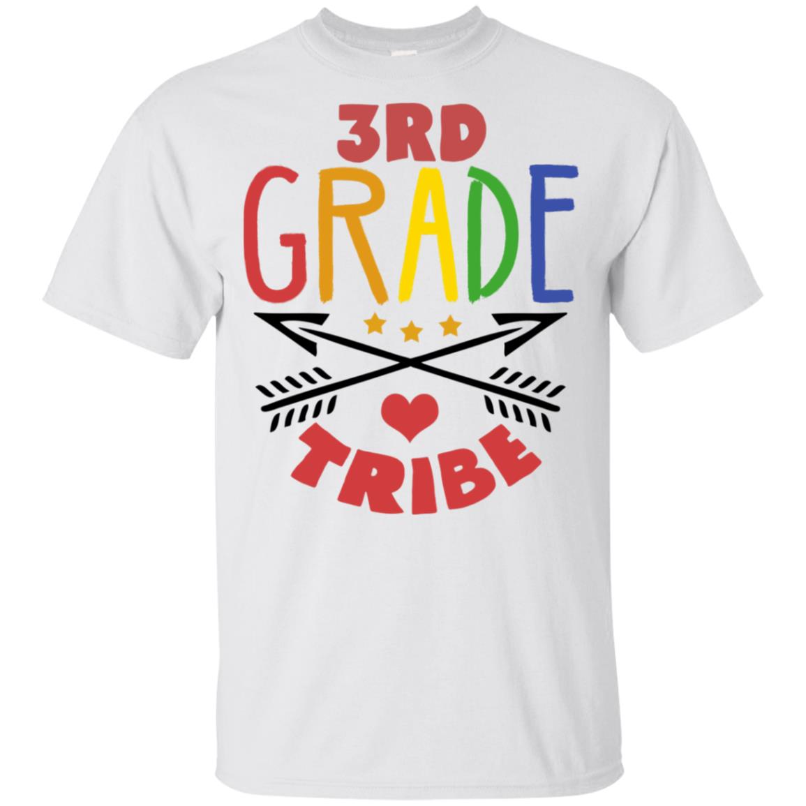 3rd Grade Tribe third Team Back To School Teacher Youth Short Sleeve