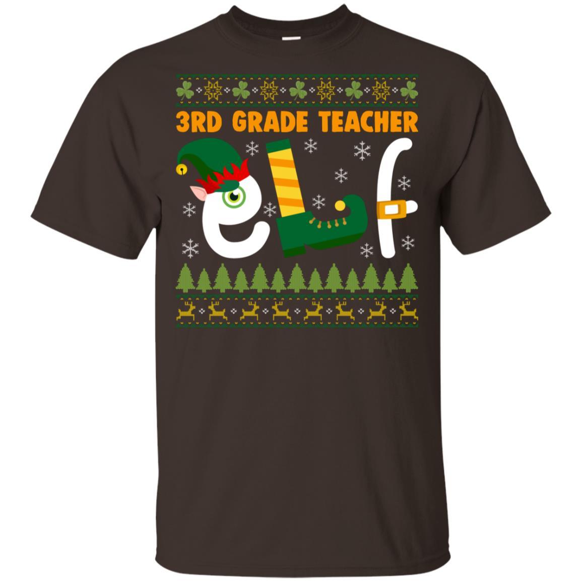 3rd Grade Teacher Elf Youth Short Sleeve