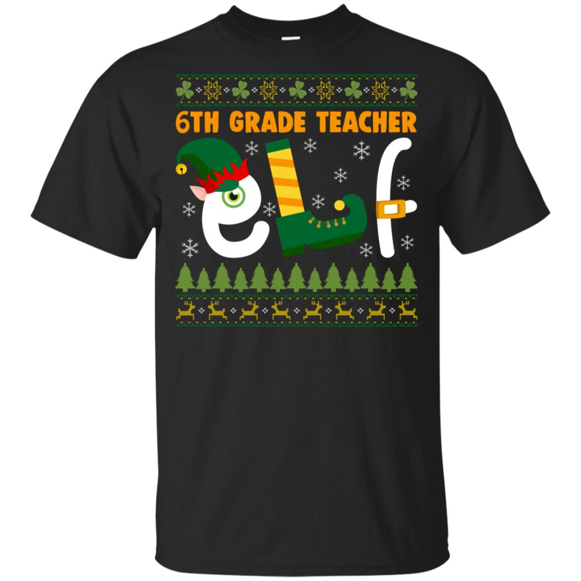 6th Grade Teacher Elf Youth Short Sleeve
