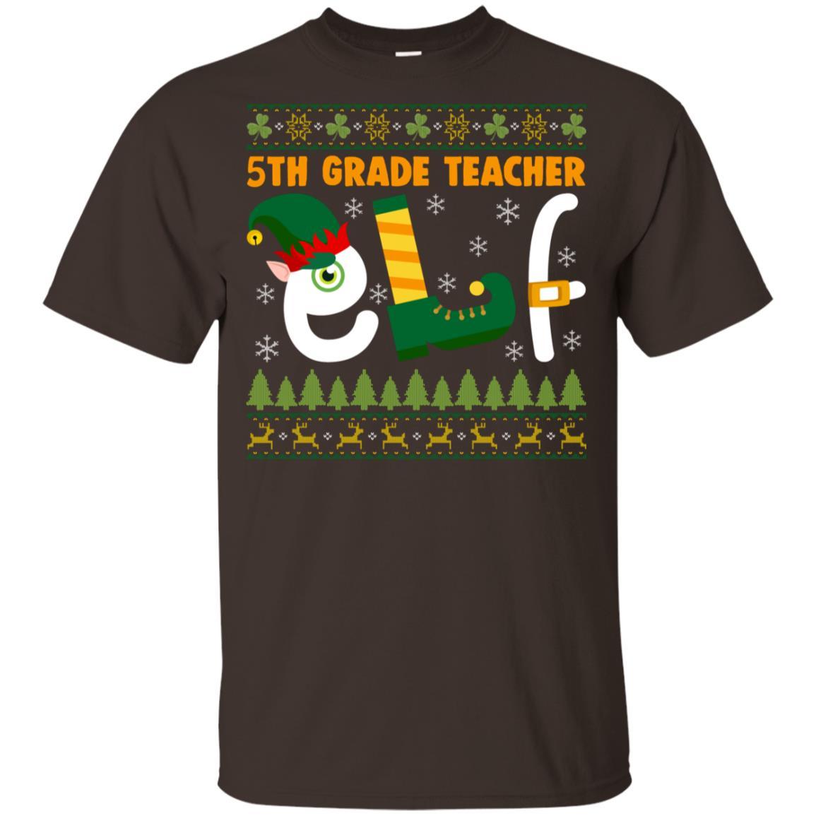 5th Grade Teacher Elf Youth Short Sleeve