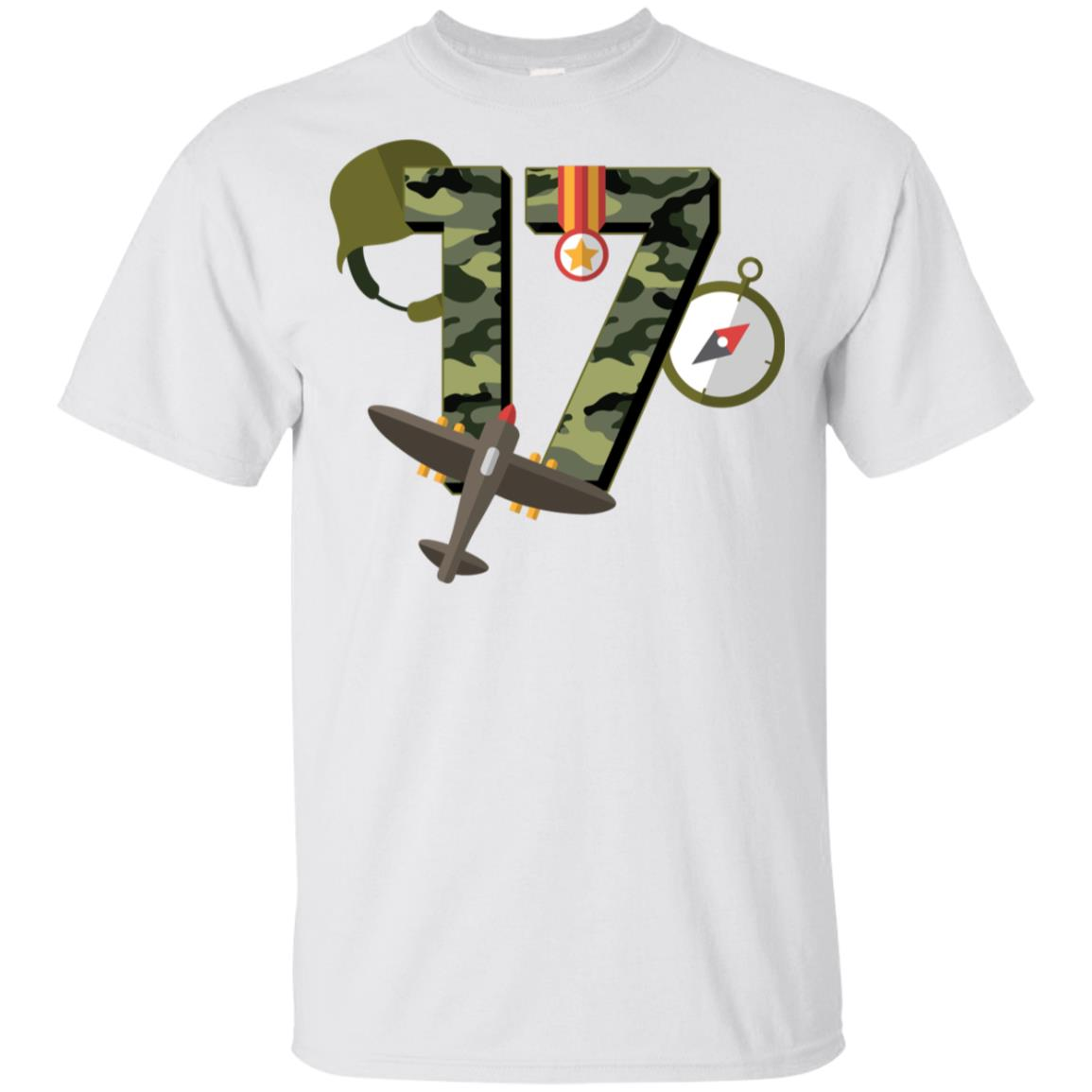 17th Birthday Camouflage Army Soldier 17 Youth Short Sleeve