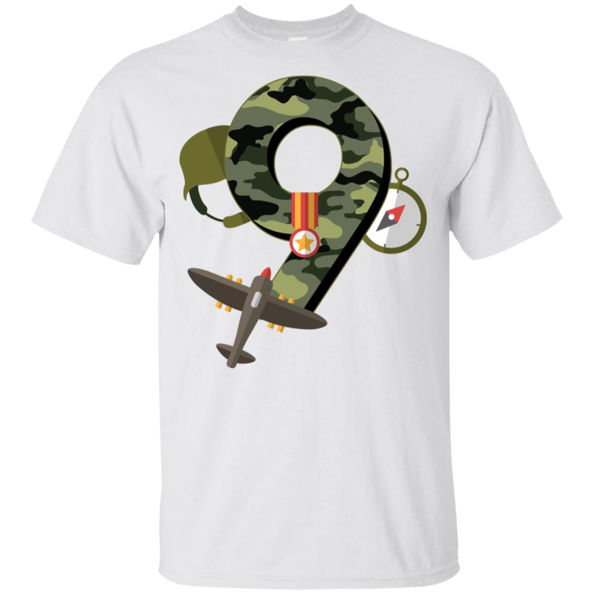 9th Birthday Camouflage Army Soldier 9 Y Youth Short Sleeve