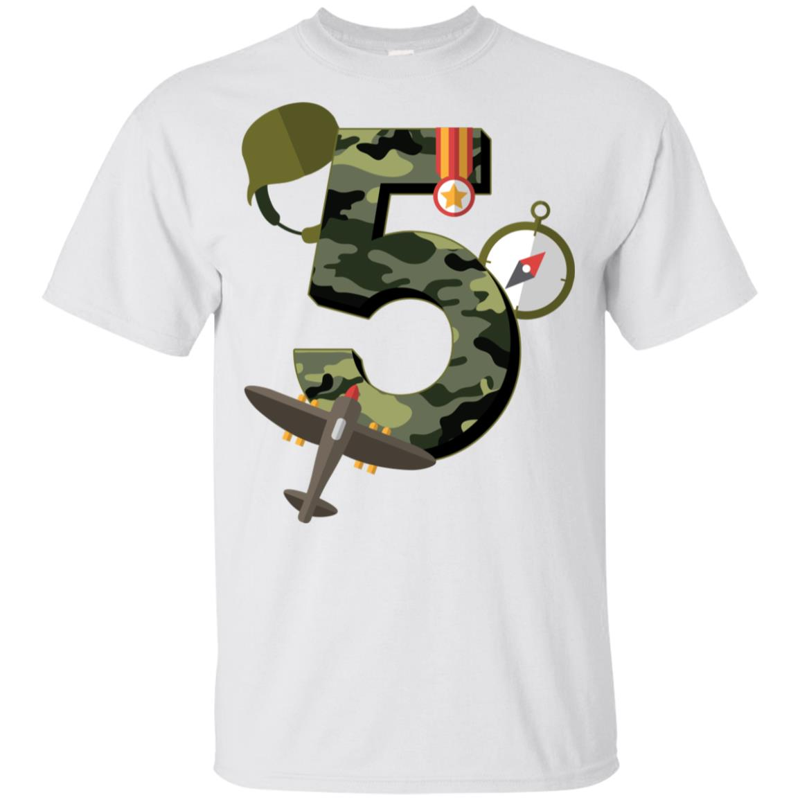 5th Birthday Camouflage Army Soldier 5 Y Youth Short Sleeve