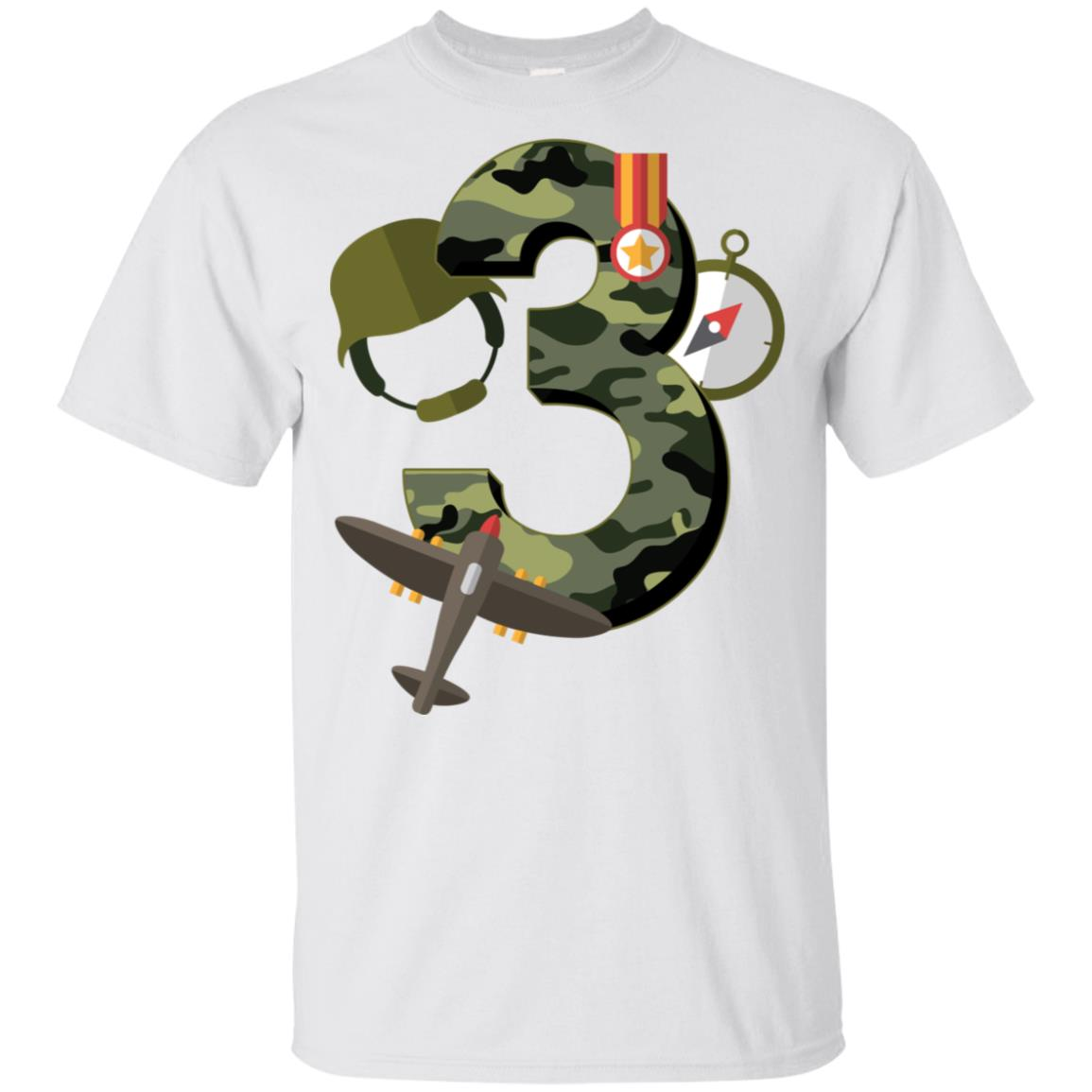 3rd Birthday Camouflage Army Soldier 3 Y Youth Short Sleeve