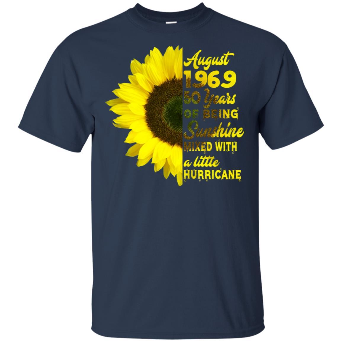 August 1969 50 years birthdays for women xmas gift Unisex Short Sleeve