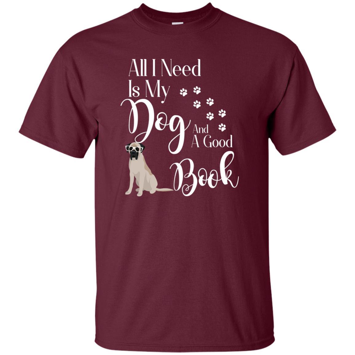 Bull English Mastiff Reading Book Lover Unisex Short Sleeve