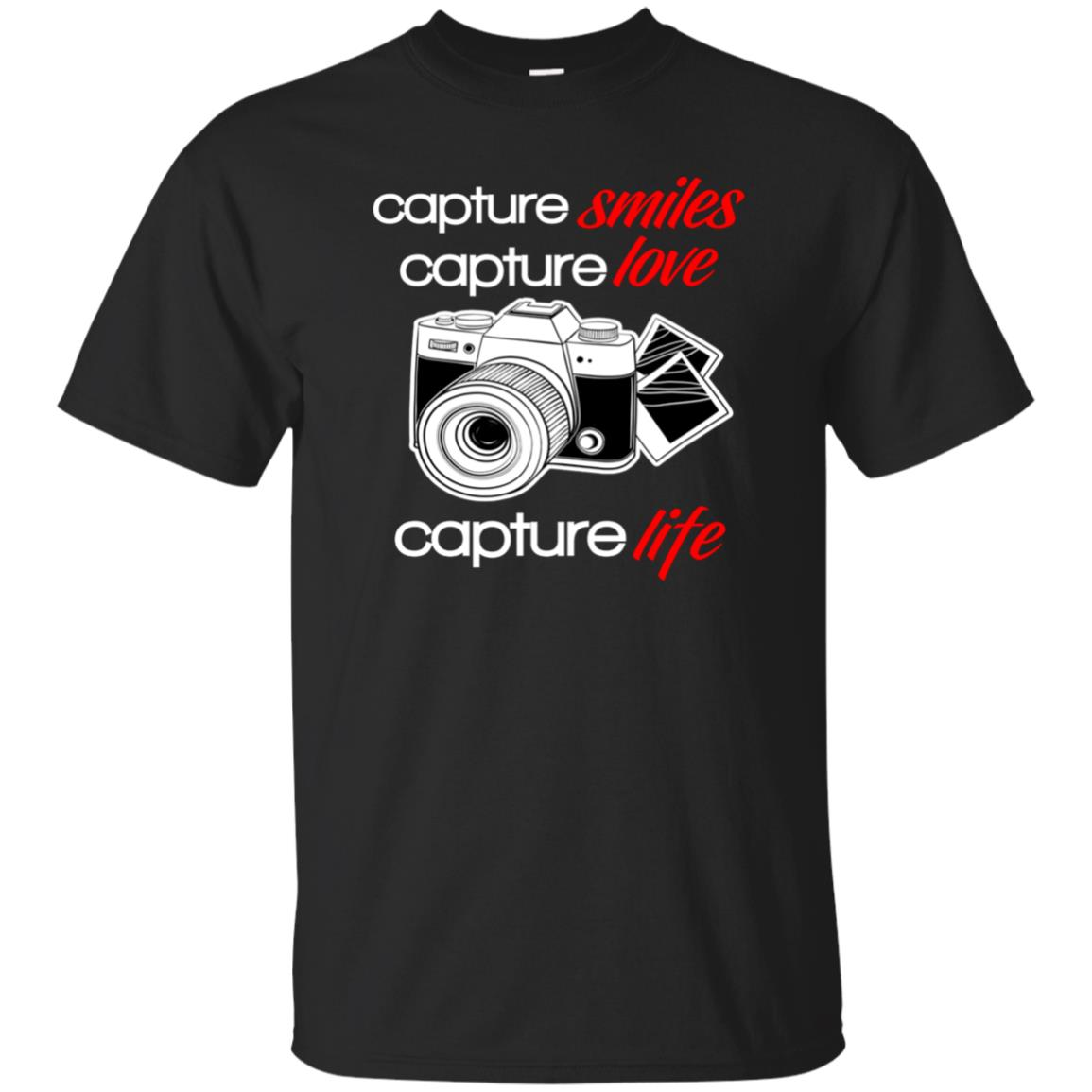Capture Smiles Love Life Photography With Camera Unisex Short Sleeve