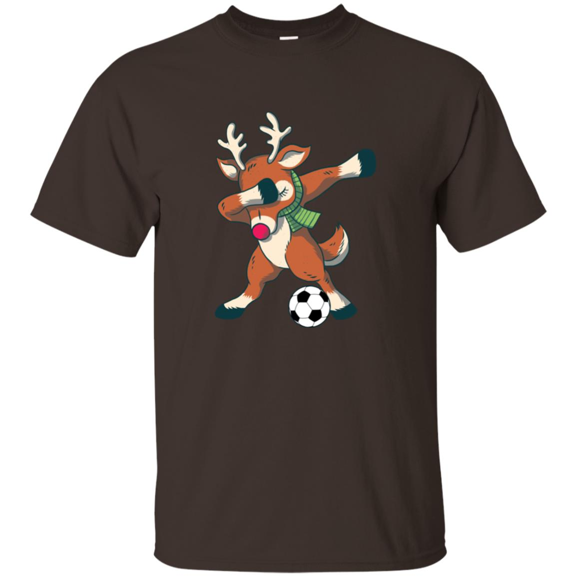 Dabbing Reindeer Soccer – Funny Christmas Dab Unisex Short Sleeve