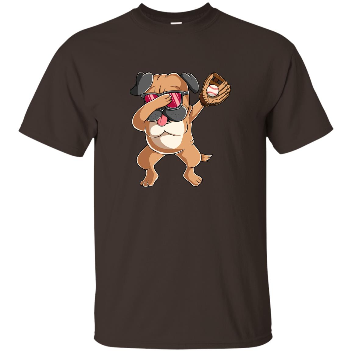 Dabbing Pug Baseball Kids Funny Dab Dance Gift Unisex Short Sleeve