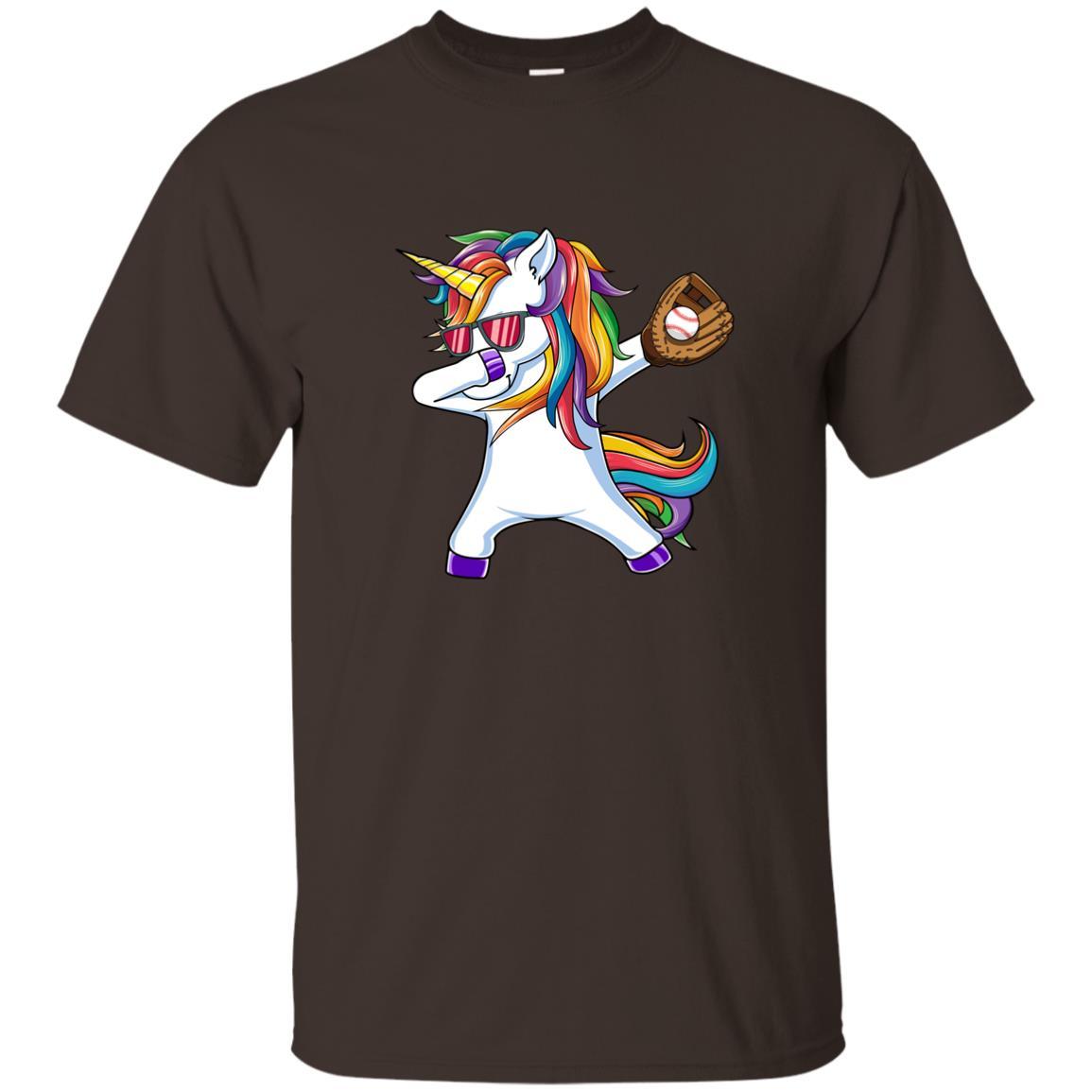 Dabbing Unicorn Baseball Kids Funny Dab Dance Gift Unisex Short Sleeve