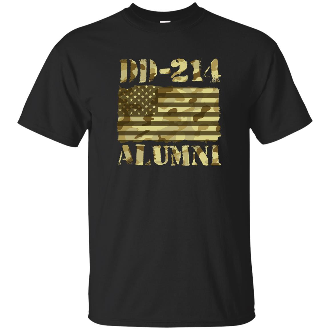 Dd-214 Us Alumni Retired Veterans Gift Unisex Short Sleeve